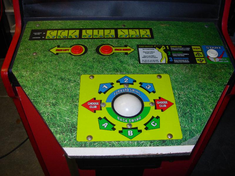 Golden Tee 98 Arcade Video Game In Bally Nfl Football Cabinet